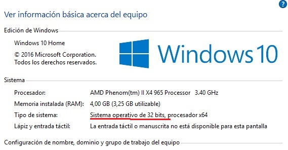 Windows Movie Maker 6.0 panel de control sistema