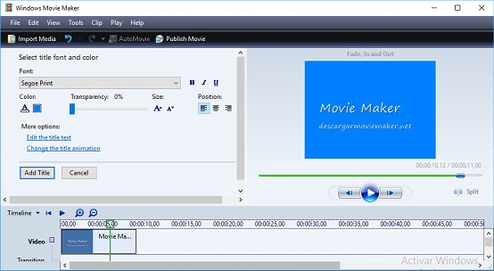 descargar Windows Movie Maker 6.0 programa