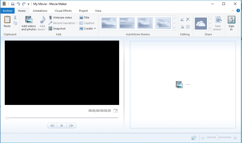 inicio movie maker de manera gratis